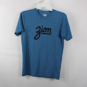 The North Face Slim Fit Mt Zion Shirt Blue Small